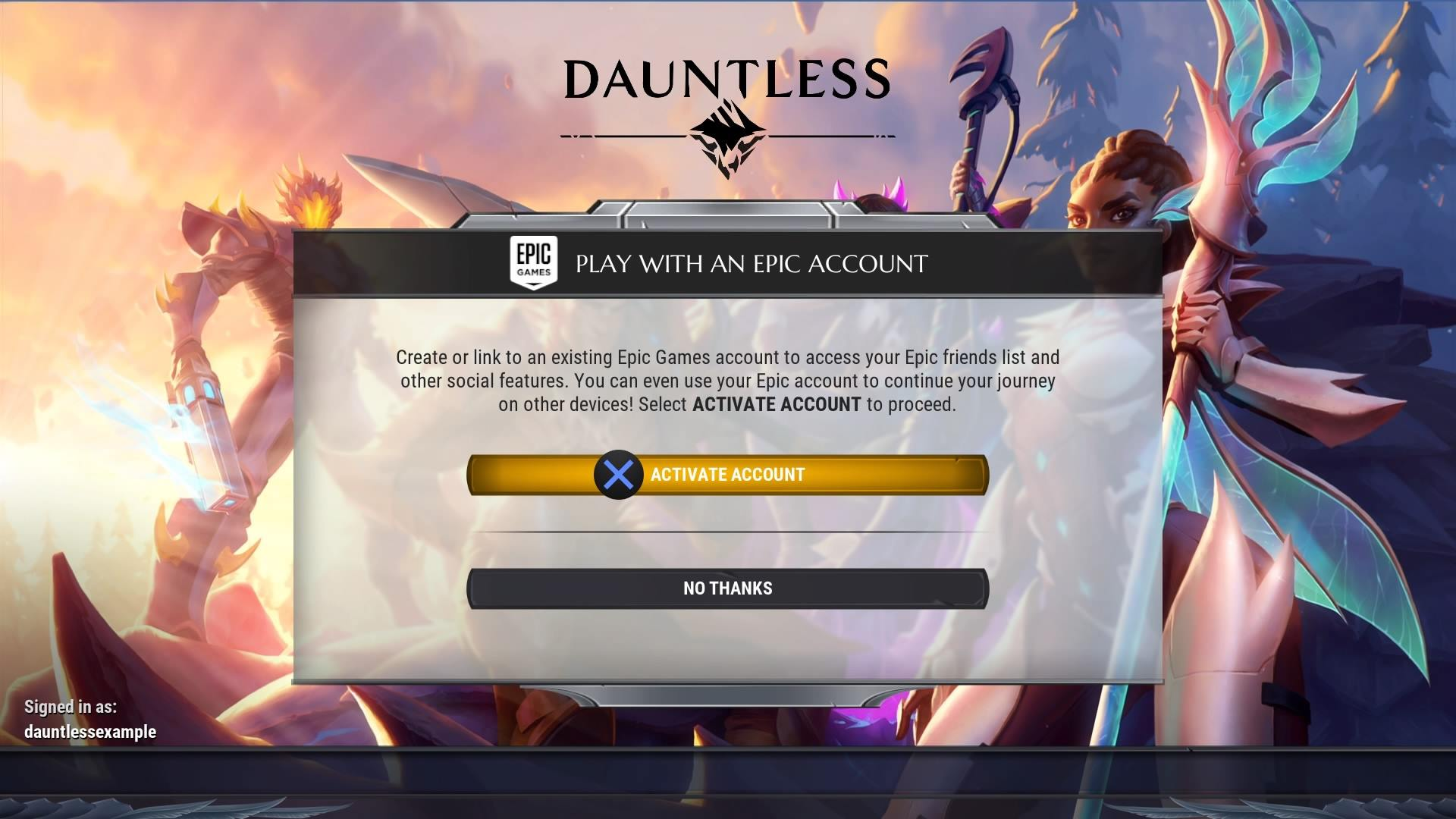 Account Linking Guide | Dauntless