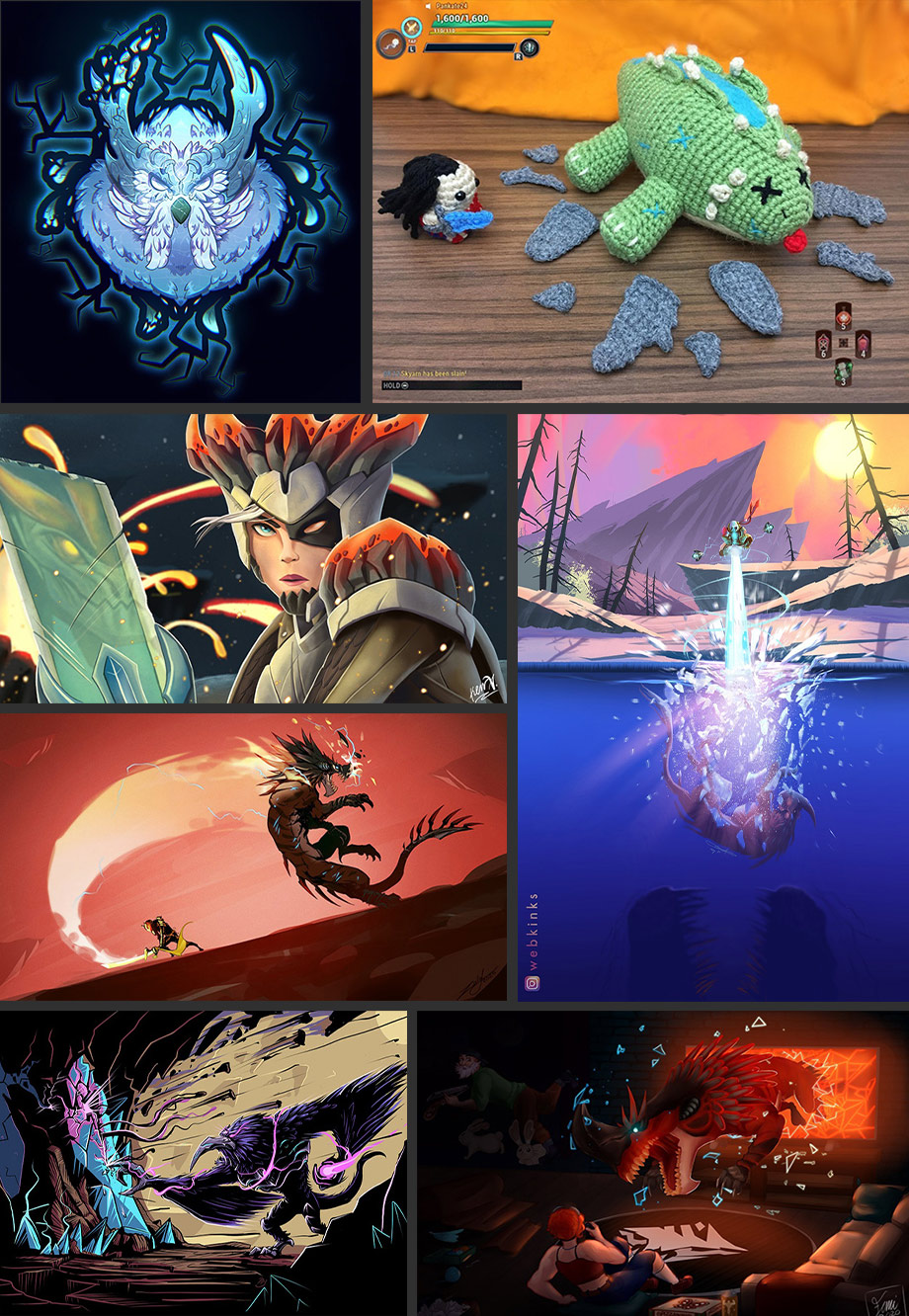 Collage del contest artistico Frantumato.
