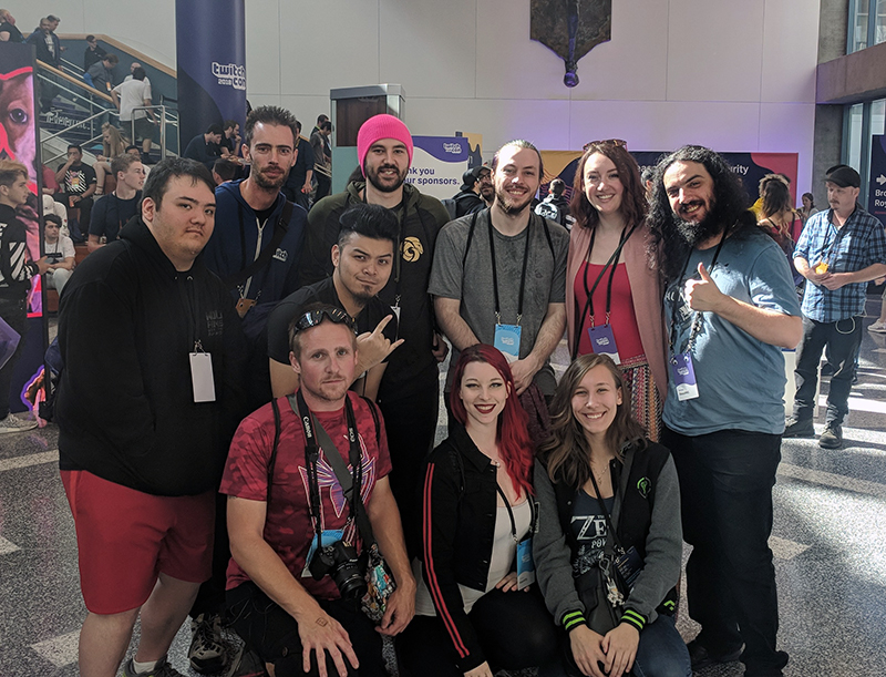 Dauntless Partners and streamers gather for a group photo